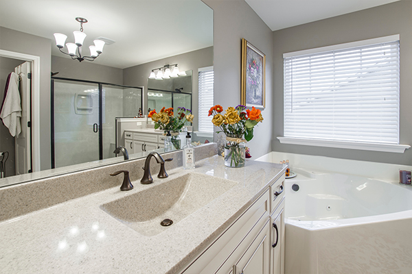 An image of a nice modern bathroom