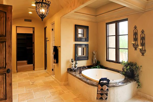 An image of a nice Spanish style bathroom